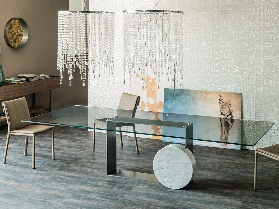 glass table sets for living room warm paint colors rooms 40 dining tables to revamp with from rectangle square museum rectangular cattelan italia