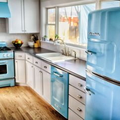 Colorful Kitchen Appliances Undermount White Sink Big Chill Home Decorating Trends
