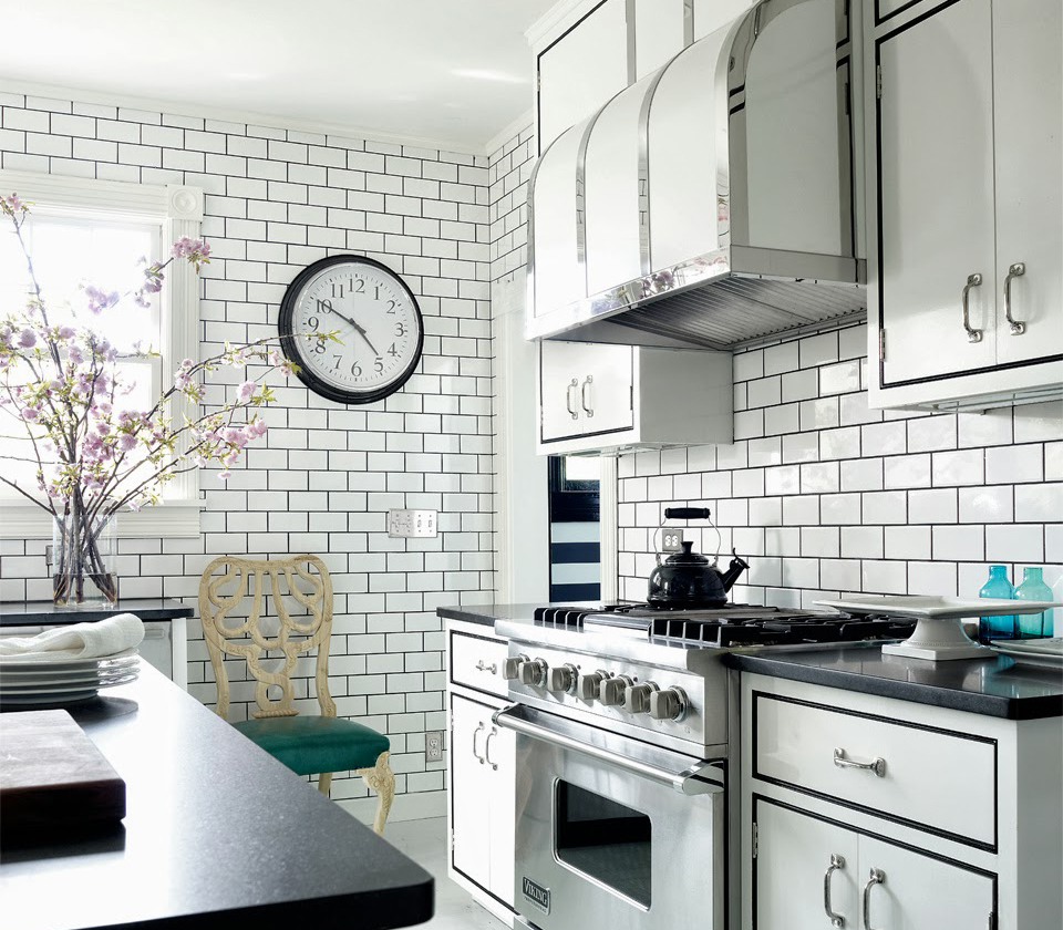subway tile for kitchen chairs cheap dress your in style with some white tiles make a contrast