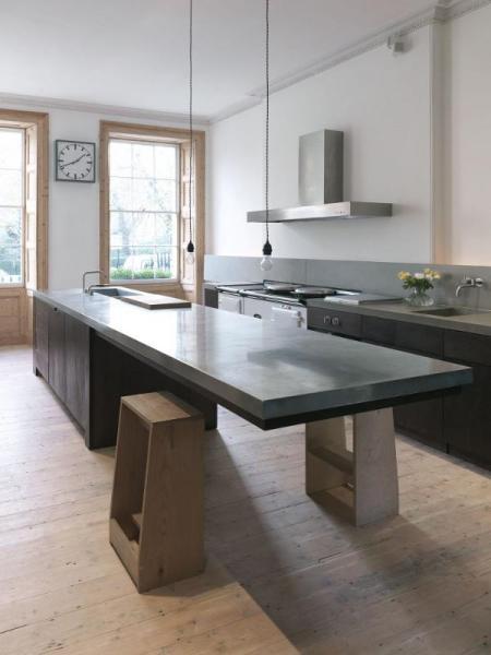 concrete kitchen island 130 Kitchen Designs To Browse Through For Inspiration