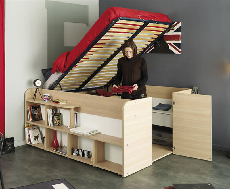 Diy Elevated Desk Clever Bed Designs With Integrated Storage For Max Efficiency