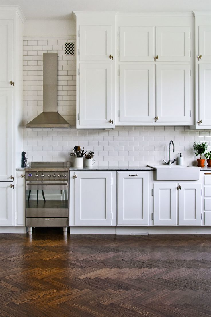 subway tiles in kitchen home styles americana island dress your style with some white design a rustic floor