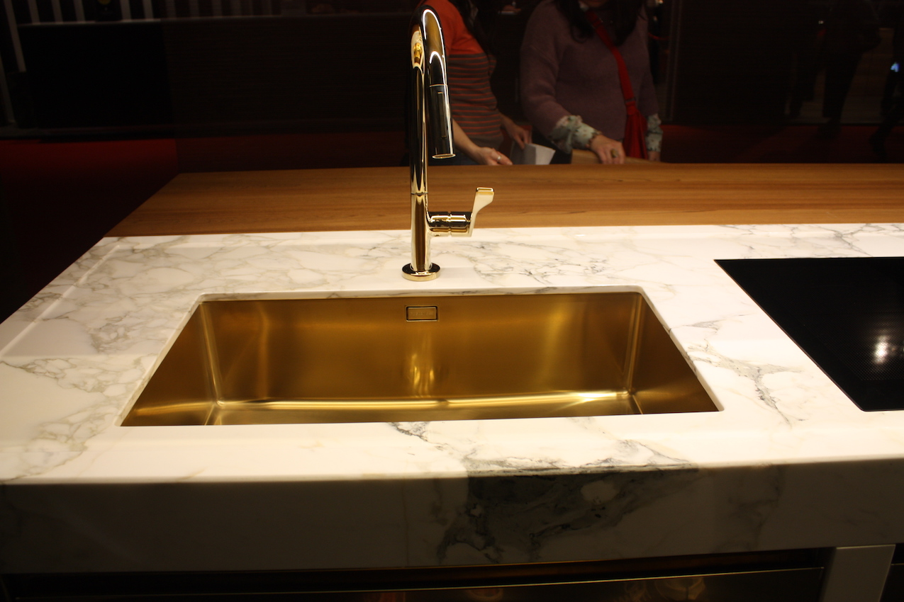 kitchen sink styles kmart new showcased at eurocucina