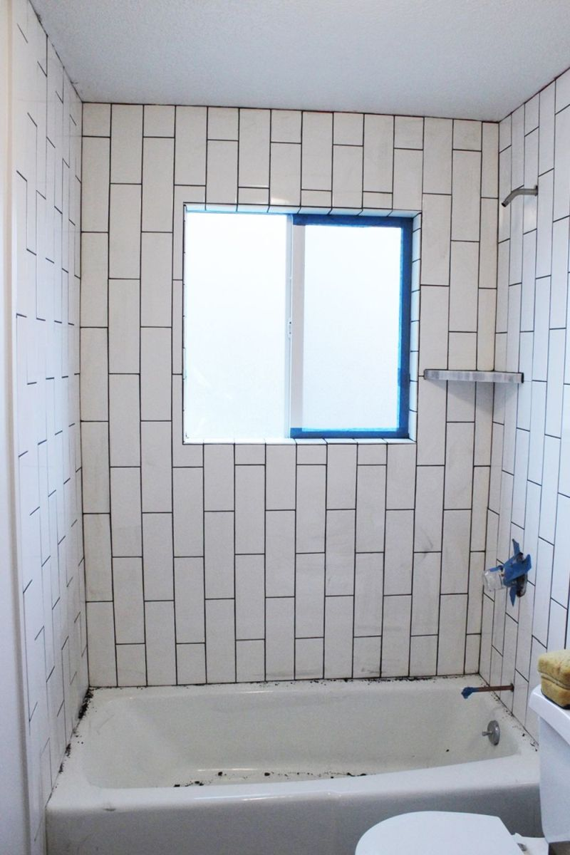 Bathroom Grout How To Tile A Shower Tub Surround Part 2 Grouting Sealing And
