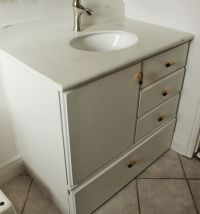 How to Turn a Builder-Grade Vanity into a Custom and Chic ...