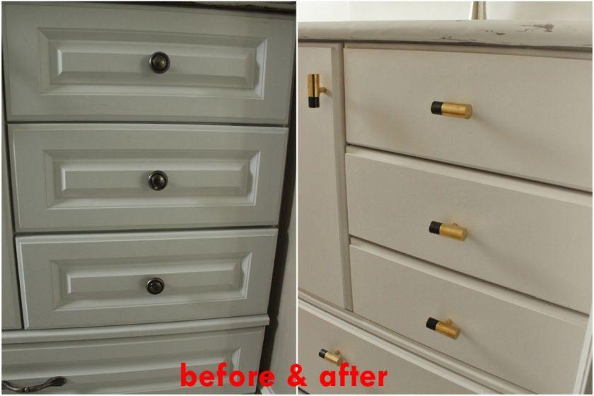 DIY Upgrade Bathroom Vanity -after and before renovation