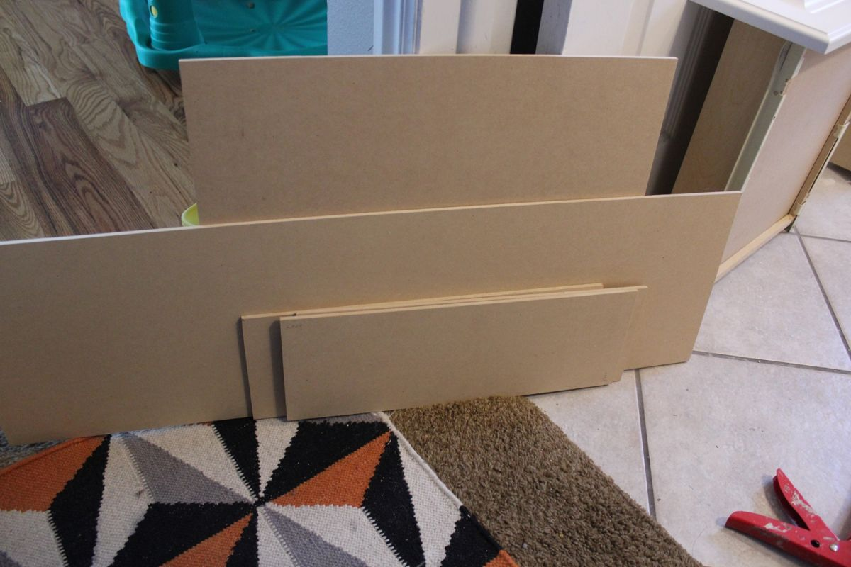 DIY Upgrade Bathroom Vanity- materials