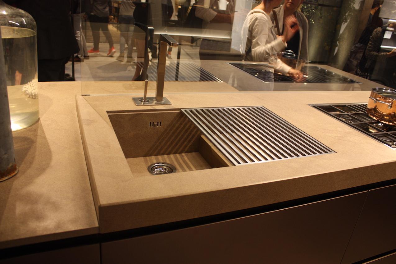kitchen sink styles showcased at eurocucina