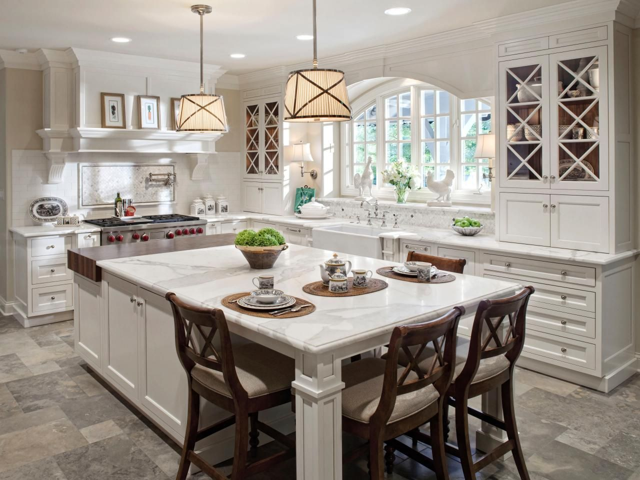 kitchen island large cabinets financing these 20 stylish designs will have you swooning table with marble on top