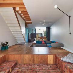 How To Design Long Narrow Living Room Cute Chairs Playful Family Home With A Lightwell At Its Center