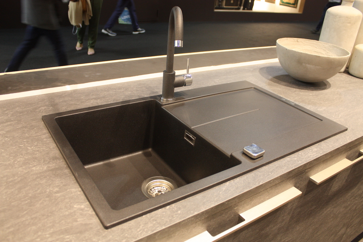 kitchen sink styles solid wood cabinets wholesale new showcased at eurocucina