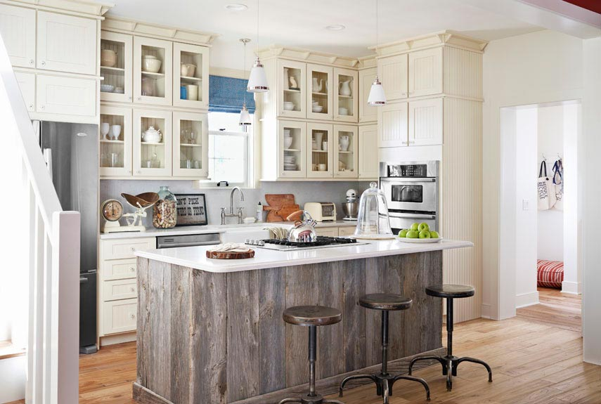 kitchen islan stainless steel single bowl sink these 20 stylish island designs will have you swooning reclaimed wood design