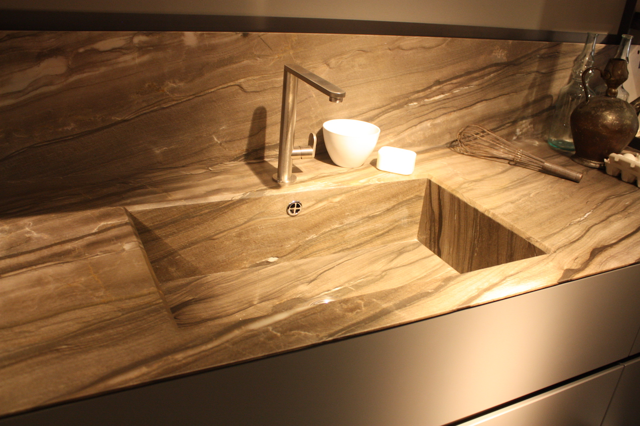 kitchen sink styles faucet kohler new showcased at eurocucina
