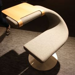 Chair Arm Table Attachment Wedding Covers Hire Plymouth Icff 2016 Features Hand Crafted Designs Along With Tech Innovations The Innovation C Upholstered Swivel By Bla Station Is Lots Of Fun Because You Can