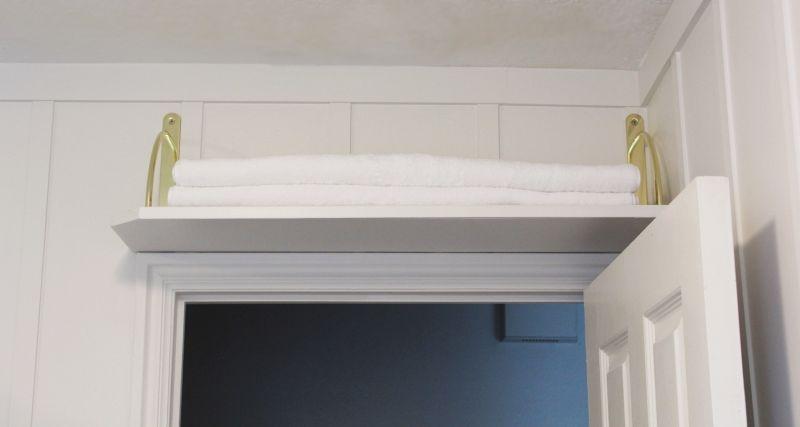 DIY Above Door Shelf - wonderful use