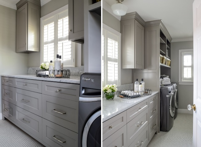 Gray Laundry room design picture