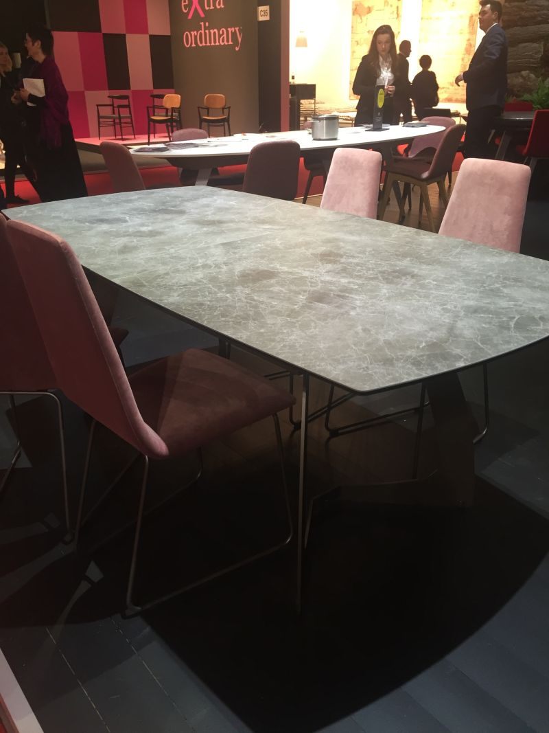 Grey marble dining table top