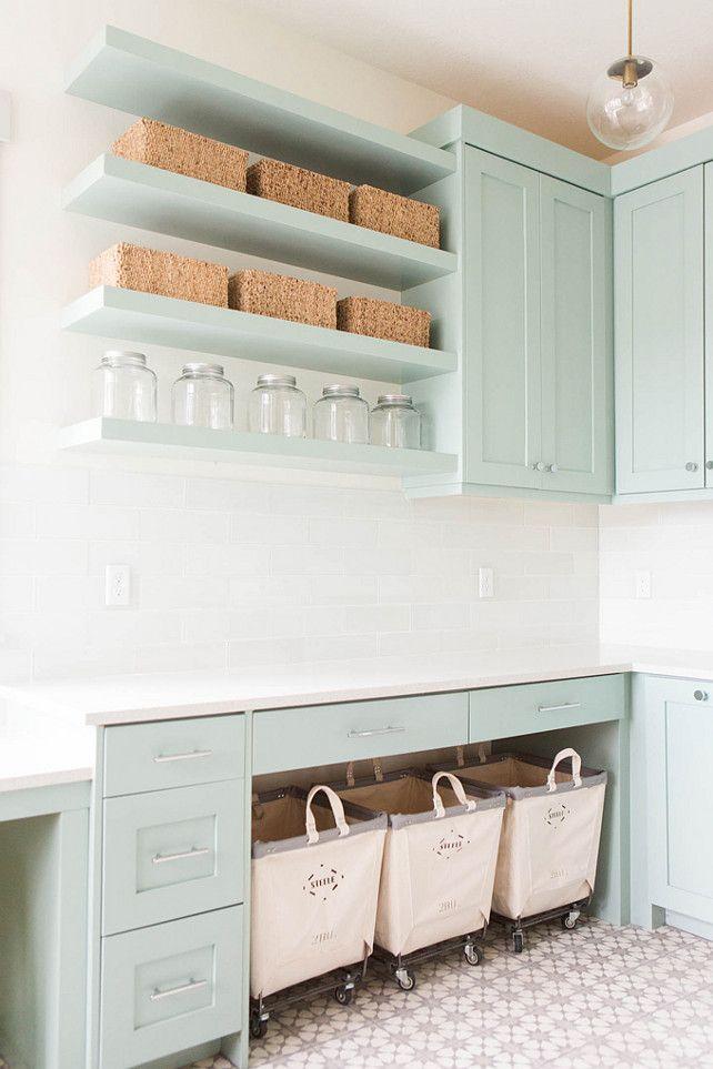 Pastel laundry room design