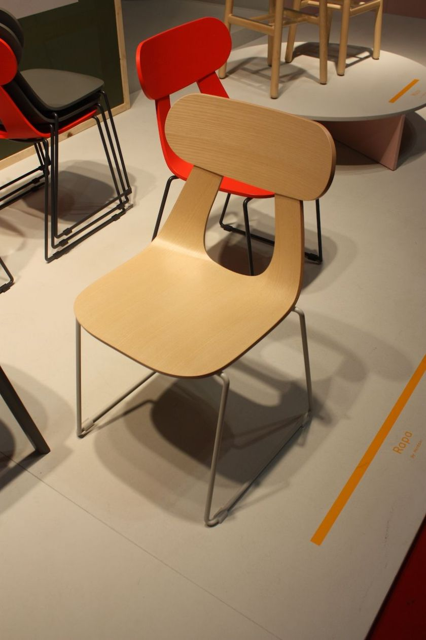 The Rapa dining chair in a neutral color would be a natural for a modern setting.