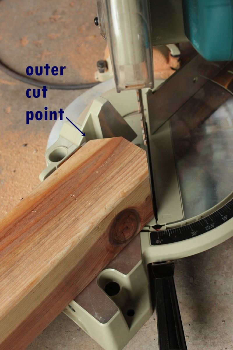 Set your miter saw horizontally