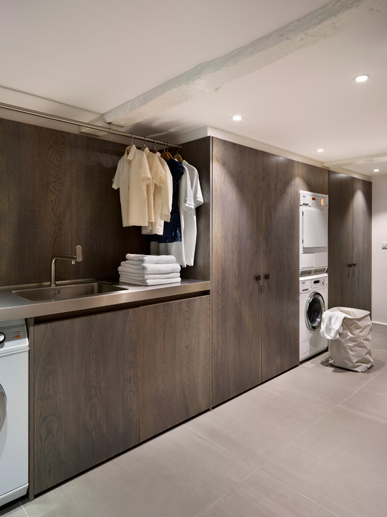 Solid and modern laundry furniture