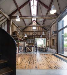 Modern Pole Barn Home Interior