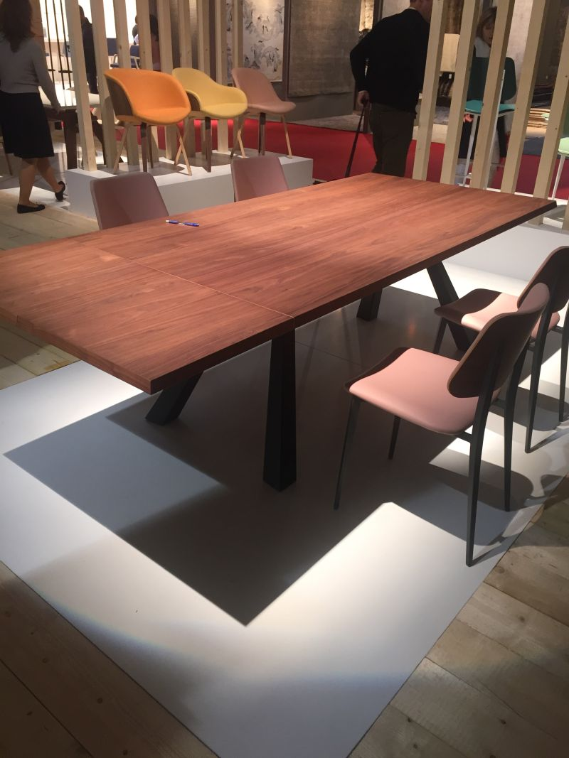 Wood dining table with chairs