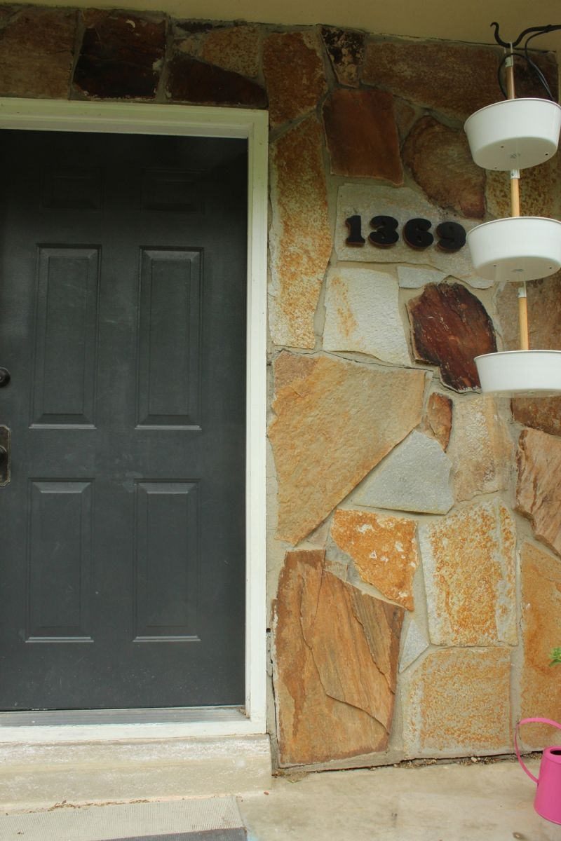 DIY Install House Numbers - old design