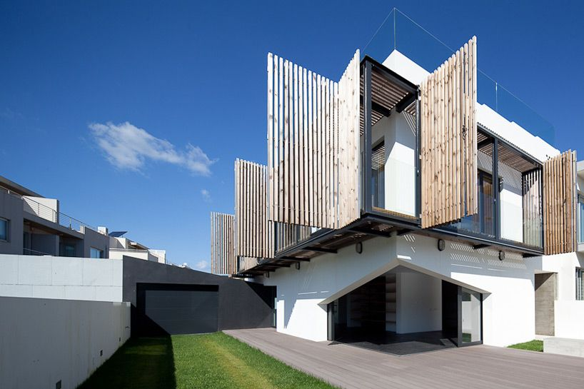 Dynamic house screens design from wood