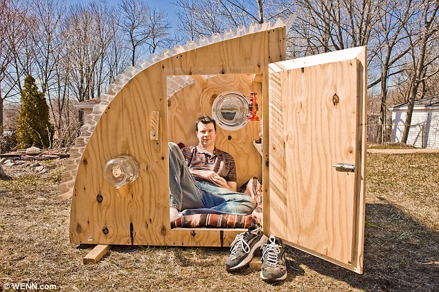 Eco-friendly micro houses made from household junk