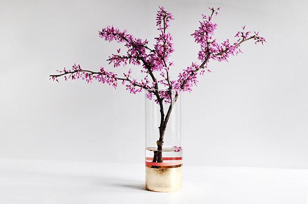 Gold foil vase base