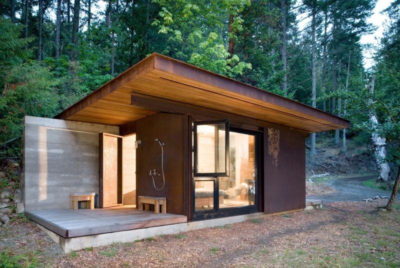 Gulf island cabin style front