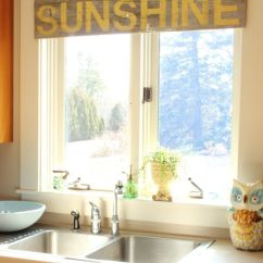 Modern Kitchen Window Treatments Curtains These 20 Will Lighten Brighten And Restyle Instantly Wooden Piece Used Like Curtain