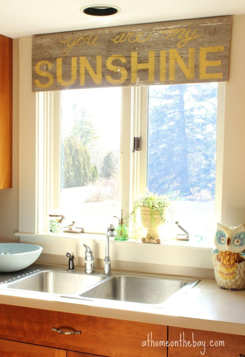 kitchen curtains ideas and bathroom remodel these 20 will lighten brighten restyle instantly wooden piece used like curtain