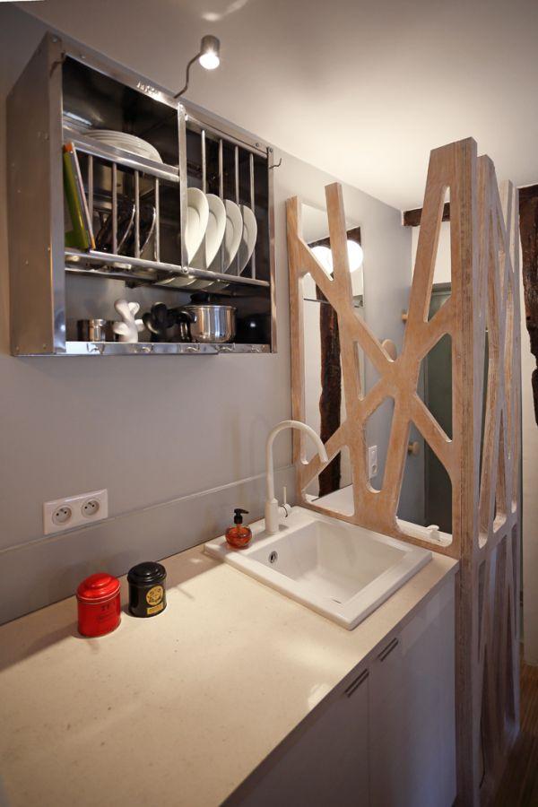Mini 12sqm studio apartment design kitchen