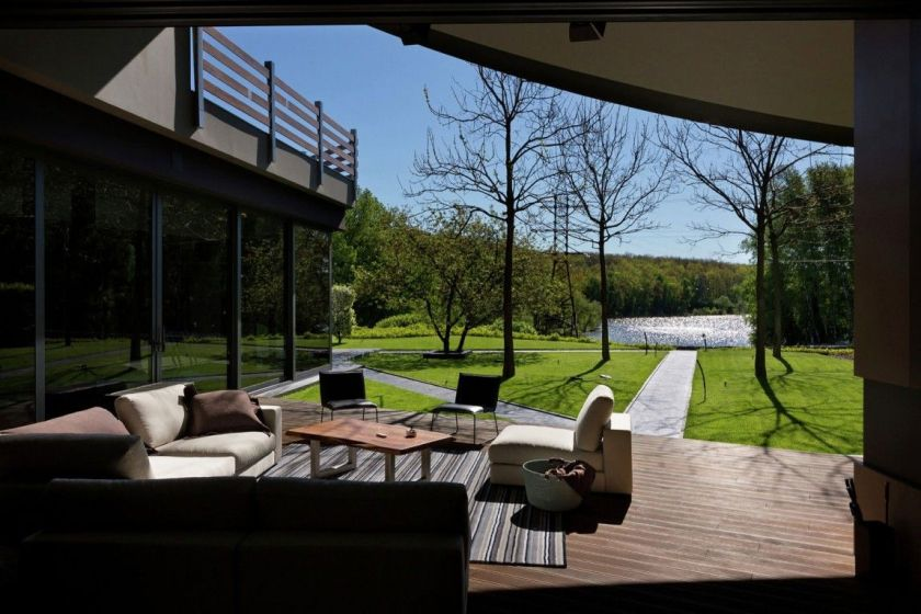 Modern house in Ukraine with a beautiful backyard