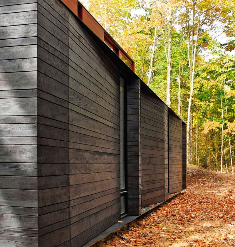 Pleated House exterior wood walls