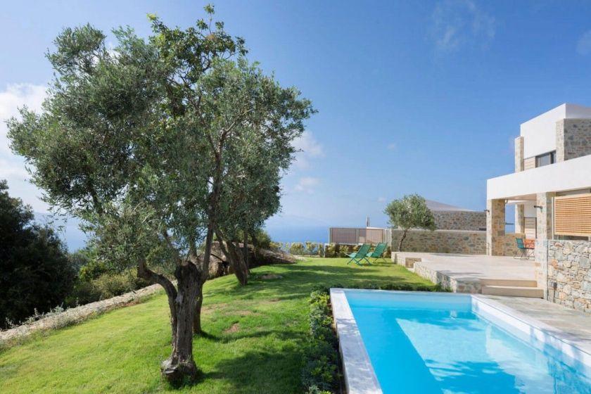 Private villa on Skiathos Greece - backyard