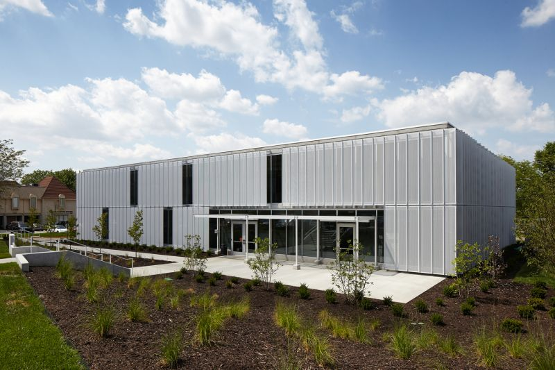 Slading facade speculative office in Leawood front