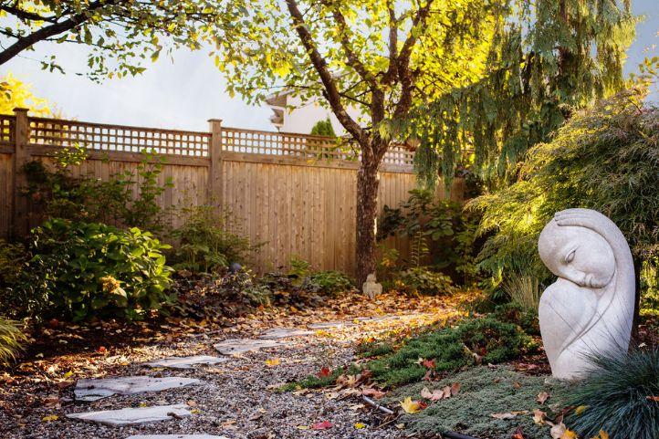 Small backyard statue