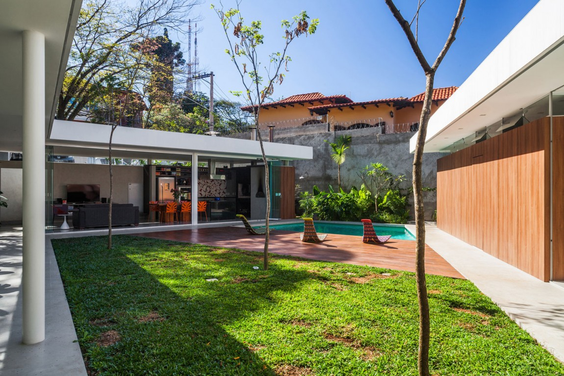 Small sao paulo house backyard