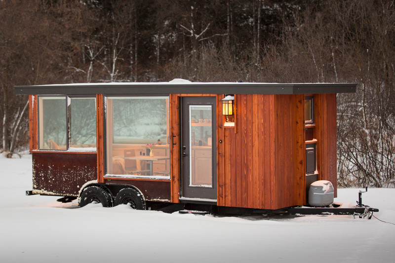 Small tiny home on wheels