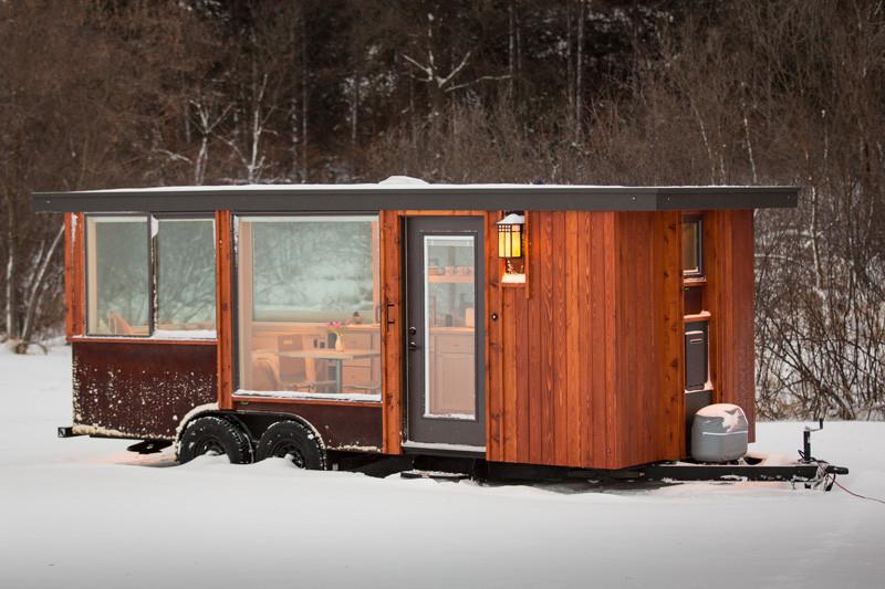 Small tiny home on wheels