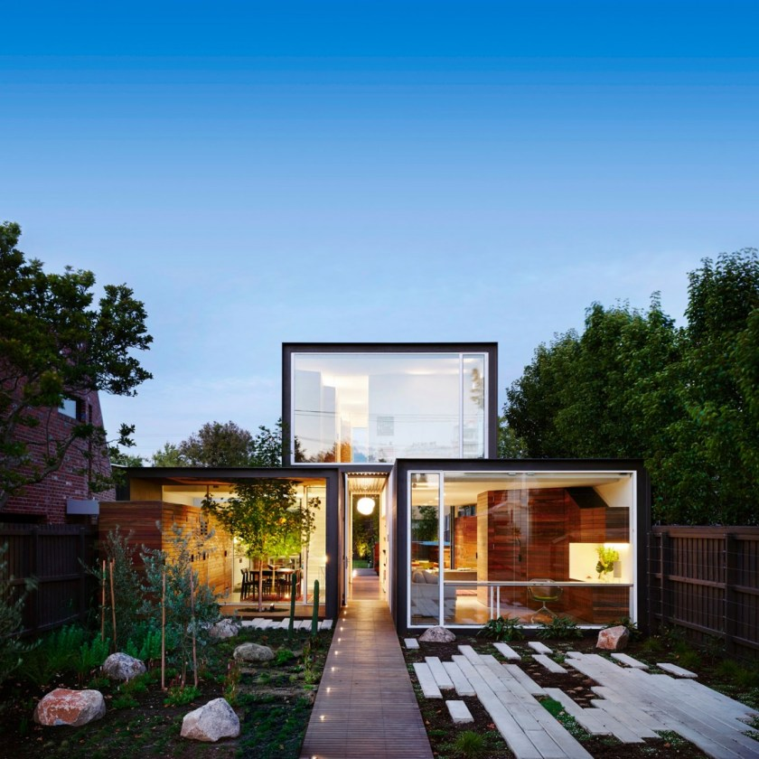 Spacious family house with backyard