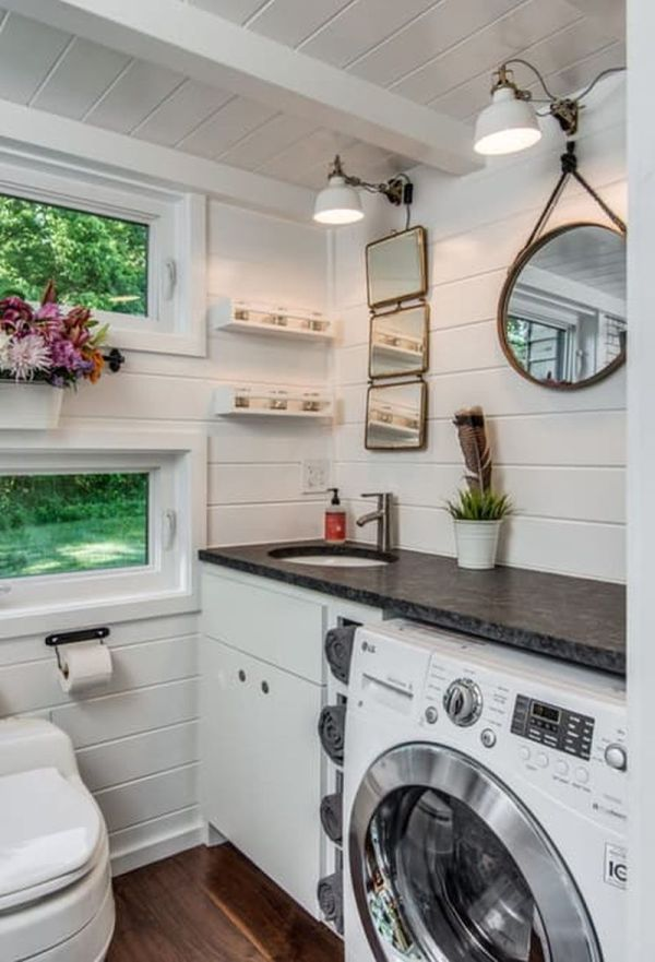 Bathroom Tiny House Washer