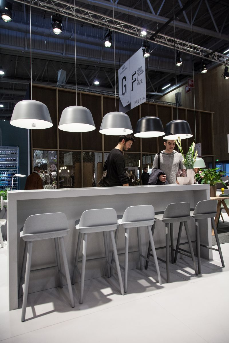 Ambit Pendant lamps over kitchen bar from Muto a scandinavian company
