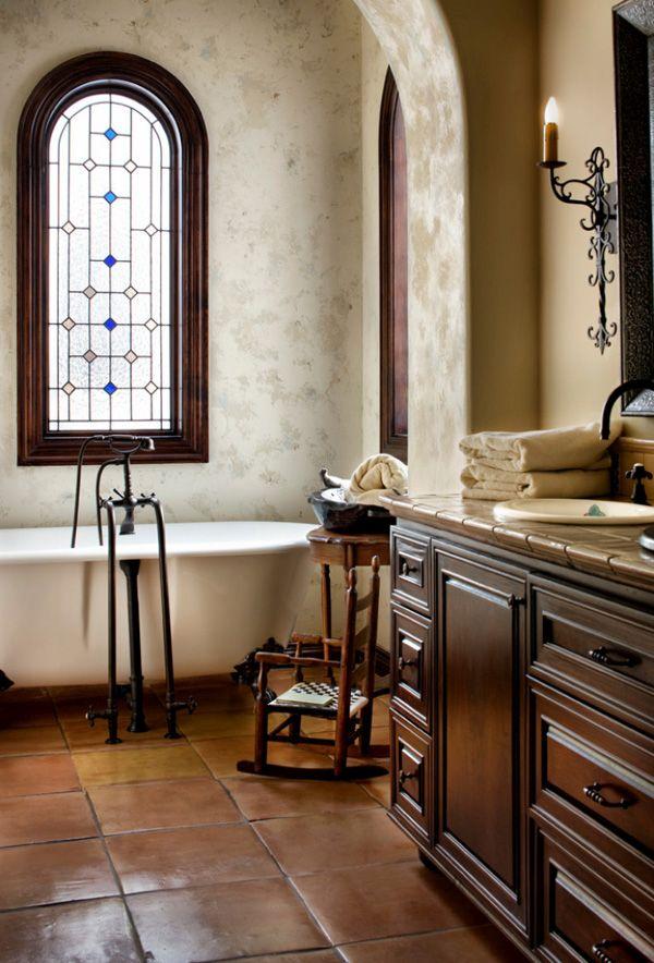 Arched windows for bathroom