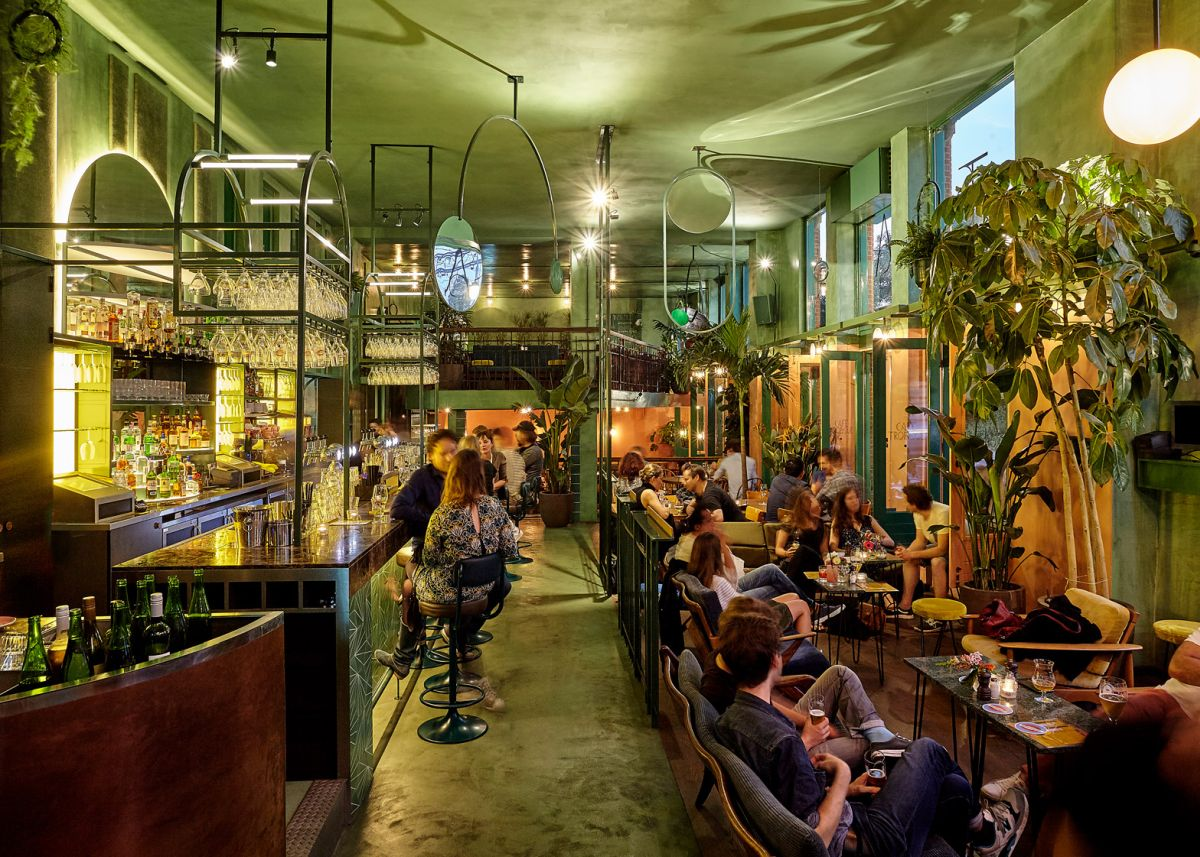 Interior Decor Plants A Botanical Cafe And Bar Inspired By The Rainforest