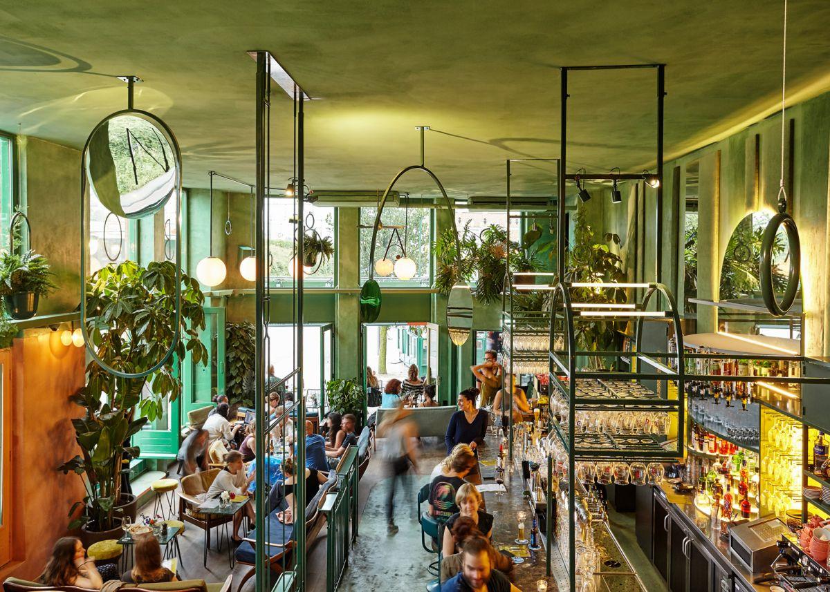 Bar Botanique Cafe Tropique ceiling mobiles