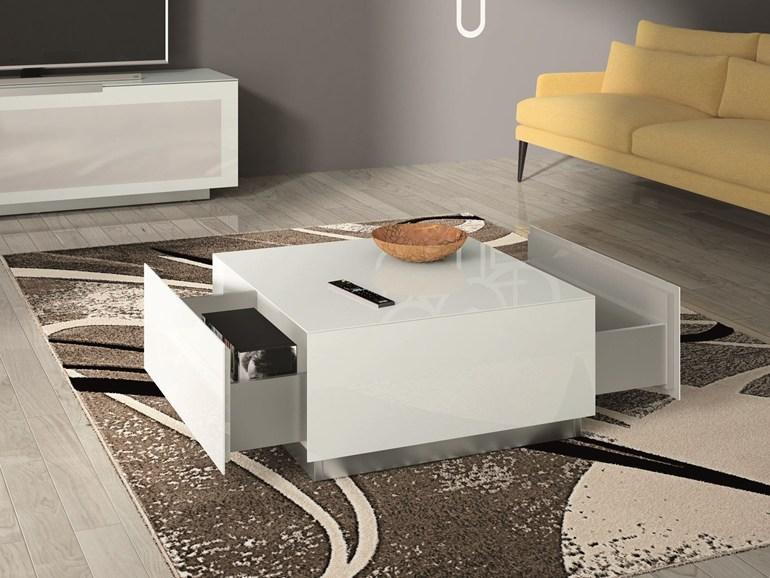 Bergamo coffee table square glass